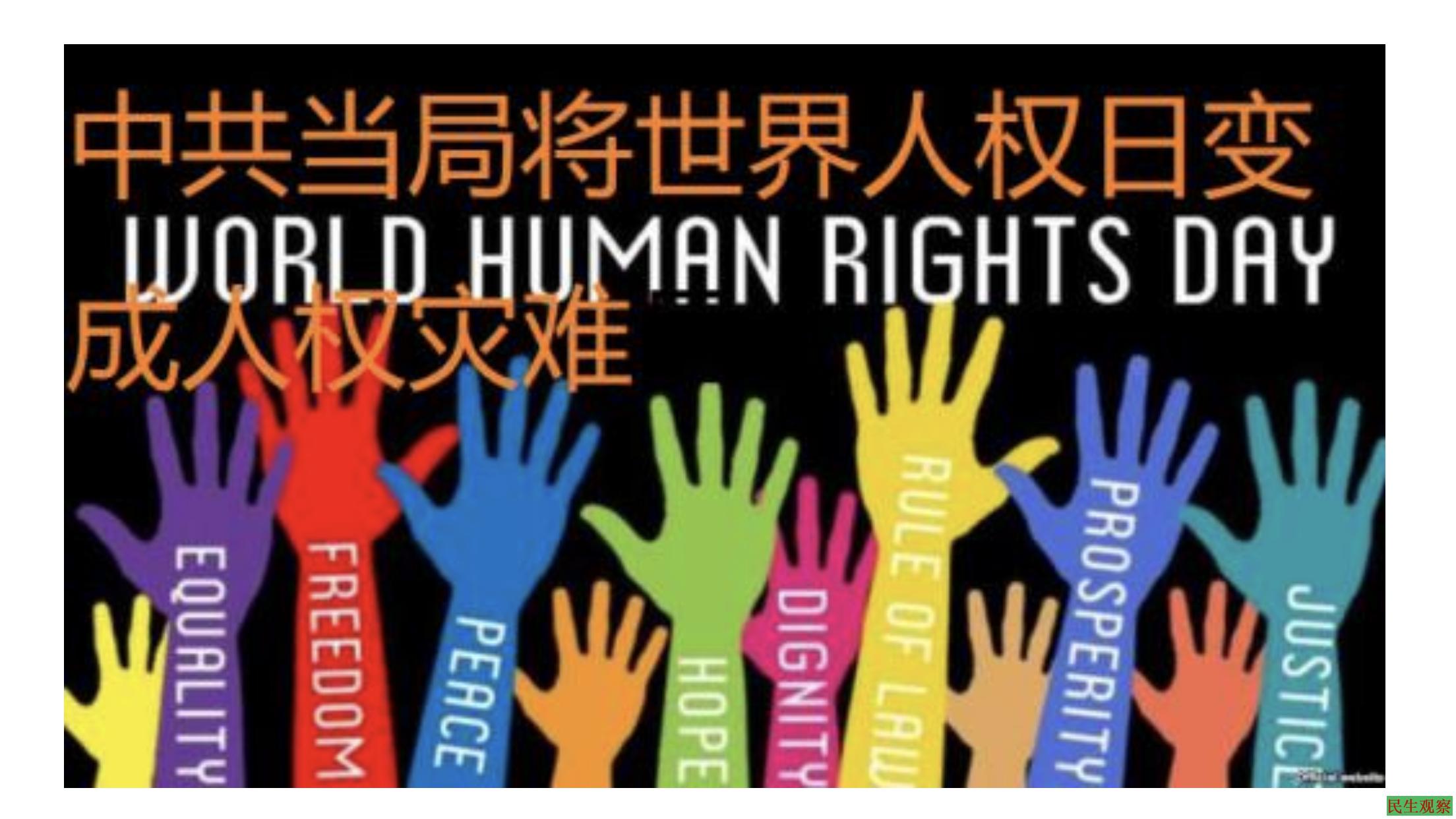 抗议将世界人权日变成人权灾难日